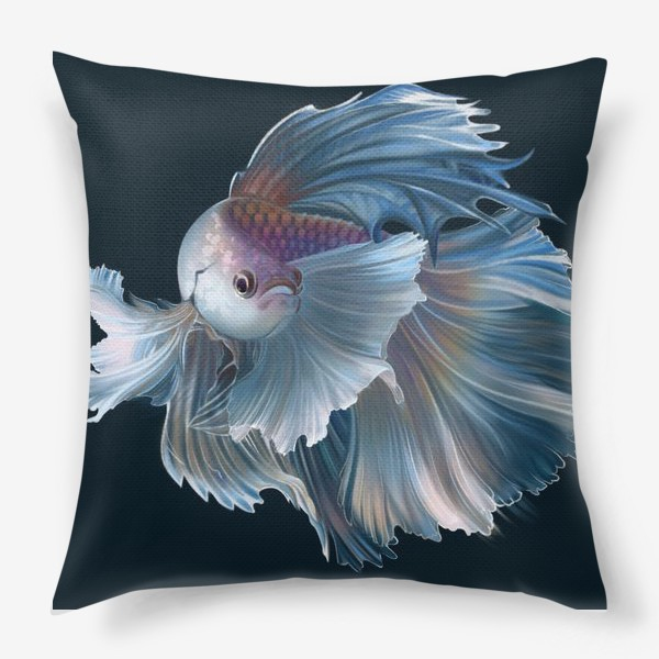 Подушка «Голубая рыбка. Вуалехвост»