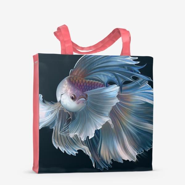 Сумка-шоппер «Голубая рыбка. Вуалехвост»