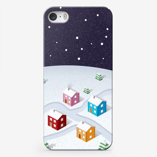 Чехол iPhone «Зимняя деревня»