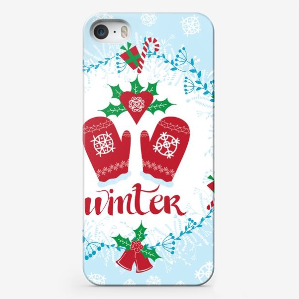 Чехол iPhone «I love winter»