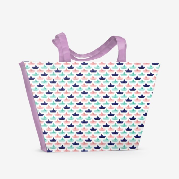 Пляжная сумка «КОРАБЛИКИ»