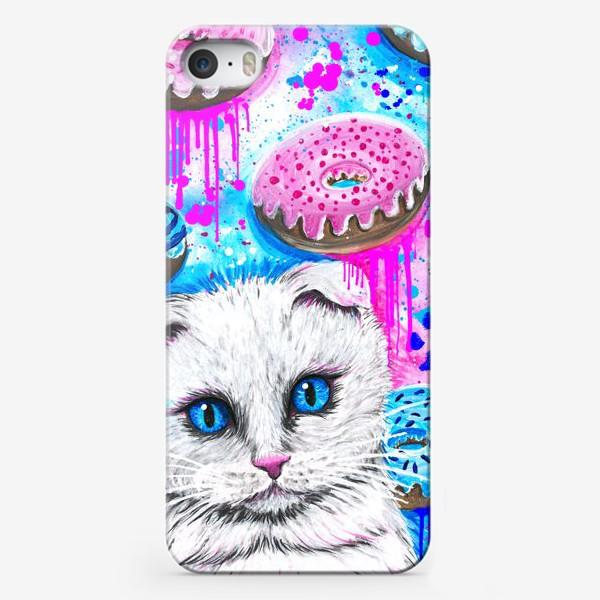 Чехол iPhone «Кошка с пончиками »