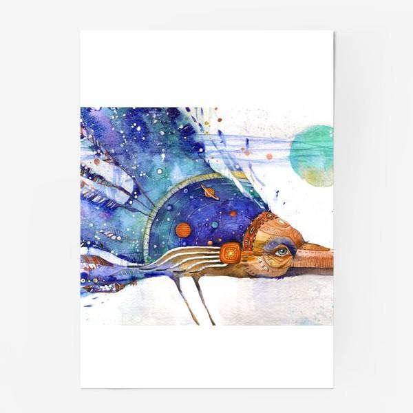 Постер «Космический Ворон, индейский шаман»