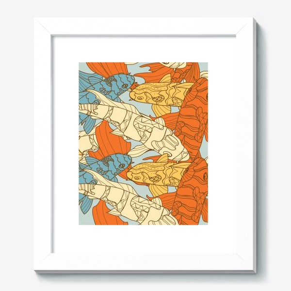 Картина «Декоративная фантазия на тему карпов кои»