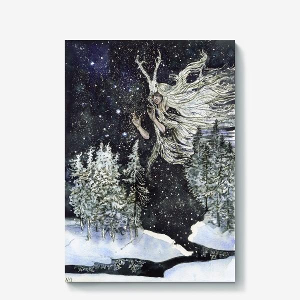 Холст «Зимняя ведьма.»
