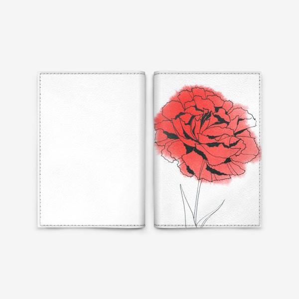 Обложка для паспорта «Гвоздика»
