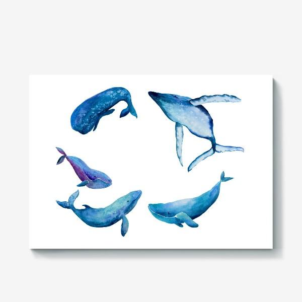 Холст «Семья Китов. Whales family»