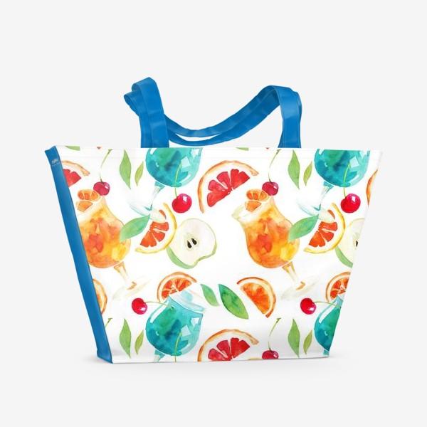 Пляжная сумка «Кафе у моря»