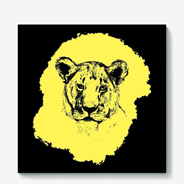 Холст «Graphic Lioness»