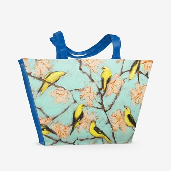 Пляжная сумка «Птички»