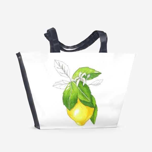 Пляжная сумка «Сочный лимон»