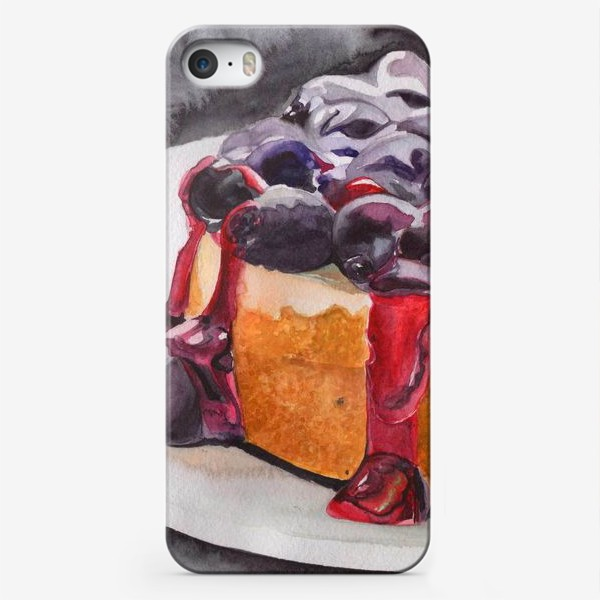 Чехол iPhone «Пирог с черникой»