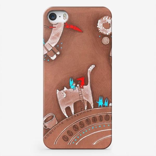 Чехол iPhone «Кофейная вселенная: Коты, зайцы, лисы, сладости и кофе»