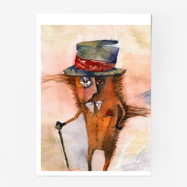 Постер «Настоящий джентльмен (Шляпа и трость)»