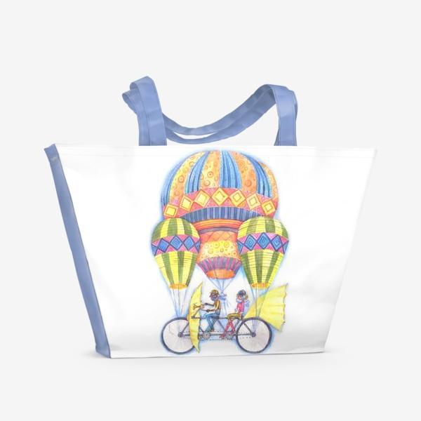 Пляжная сумка «Летучий велосипед»