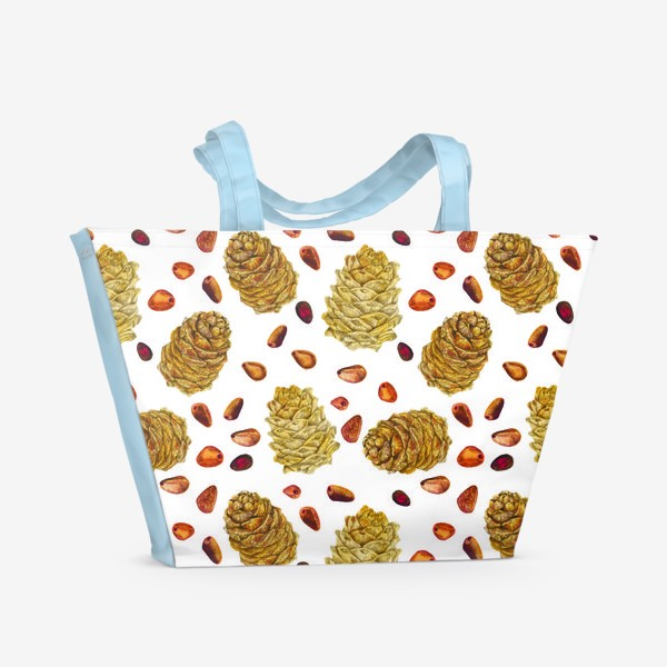 Пляжная сумка «Шишки »