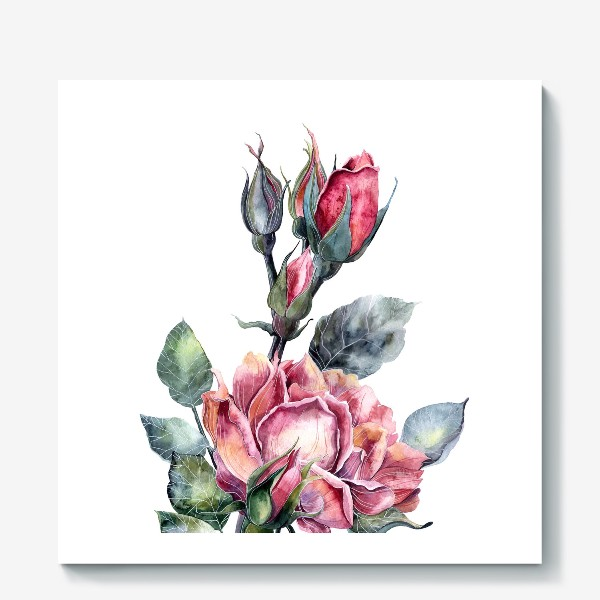 Холст «Цветы Розы»