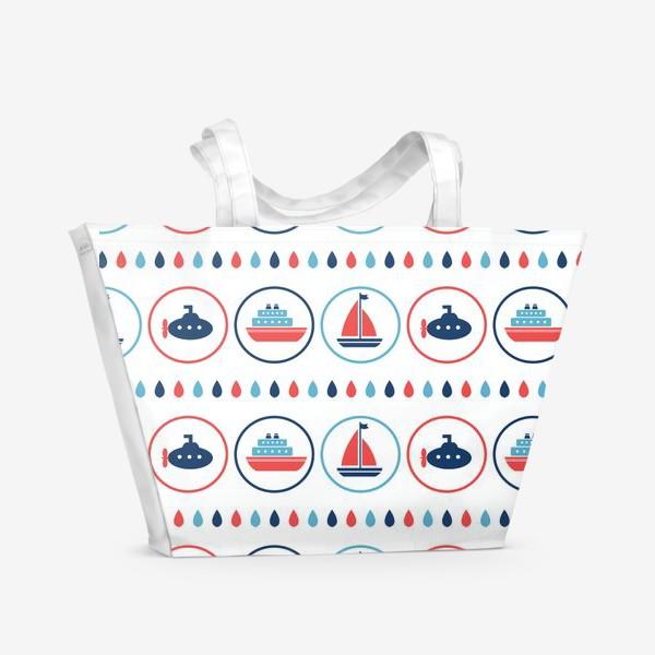 Пляжная сумка «Водный транспорт»