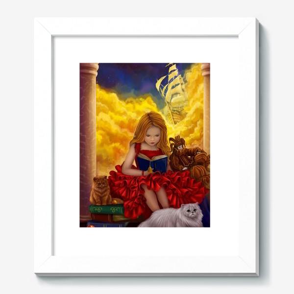 Картина «Девочка читает книжку»