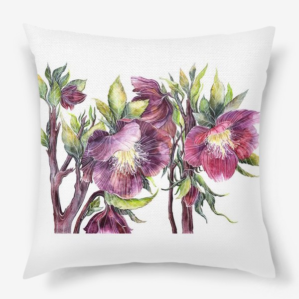 Подушка «Цветы Морозник»