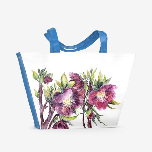 Пляжная сумка «Цветы Морозник»