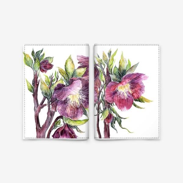 Обложка для паспорта «Цветы Морозник»