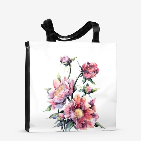 Сумка-шоппер «Цветы Пионы»