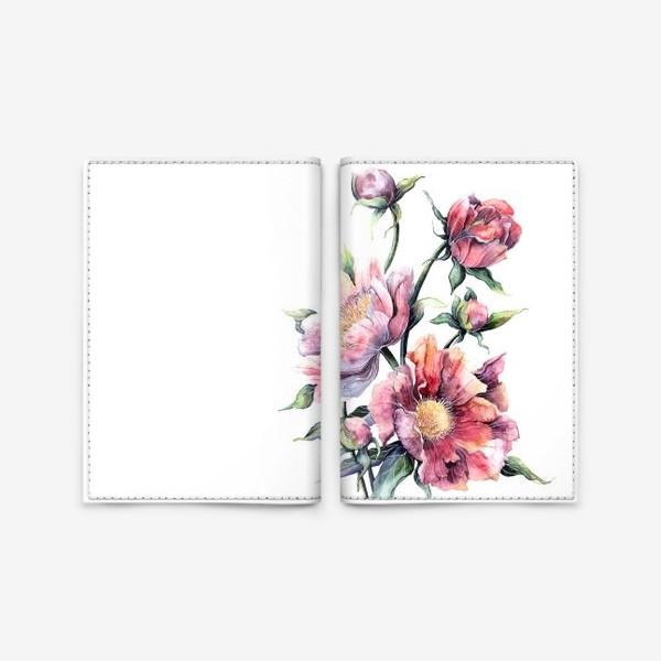 Обложка для паспорта «Цветы Пионы»