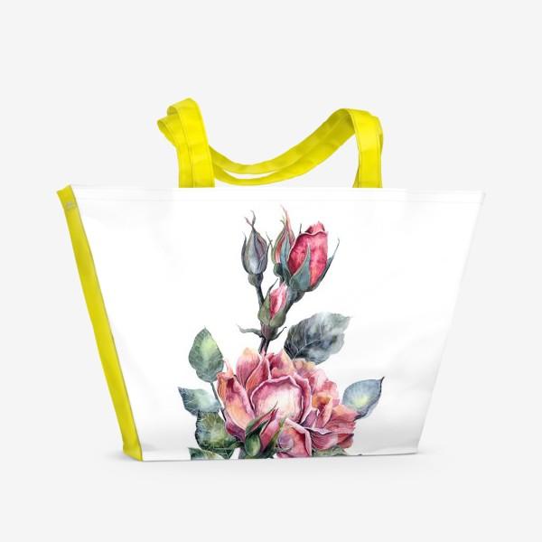 Пляжная сумка «Цветы Розы»