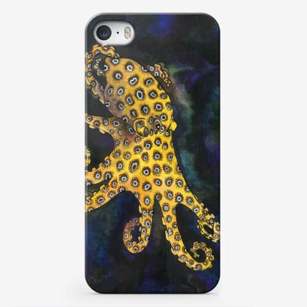 Чехол iPhone «Голубокольчатый осьминог»