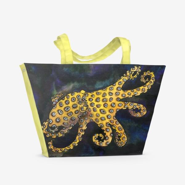 Пляжная сумка «Голубокольчатый осьминог»
