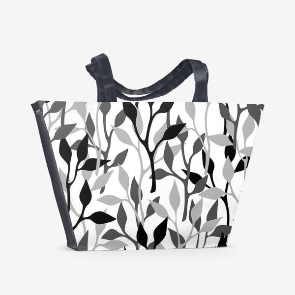 Пляжная сумка «Gray branches»