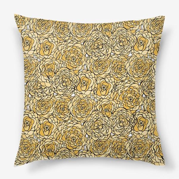 Подушка «Yellow flowers»