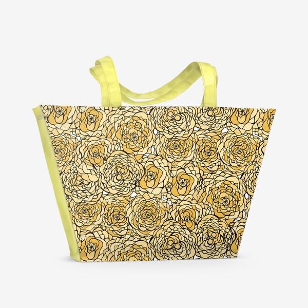 Пляжная сумка «Yellow flowers»