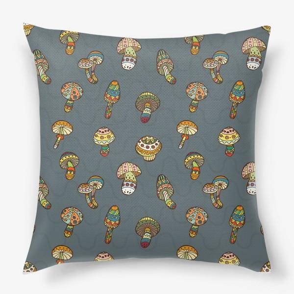 Подушка «Веселые грибочки»