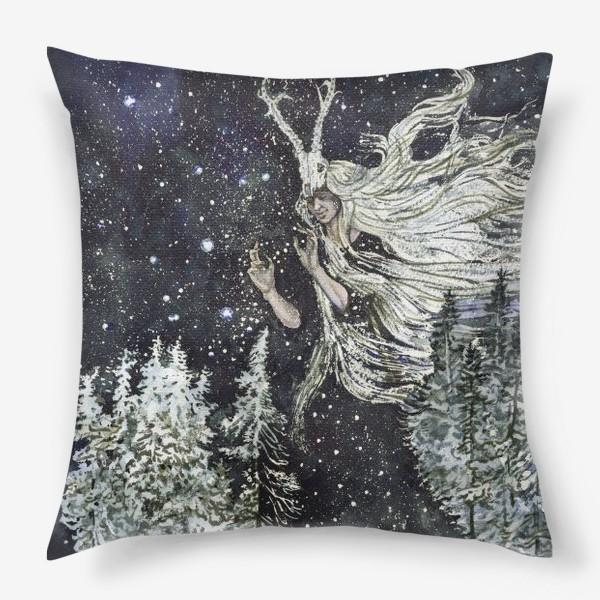 Подушка «Зимняя ведьма.»