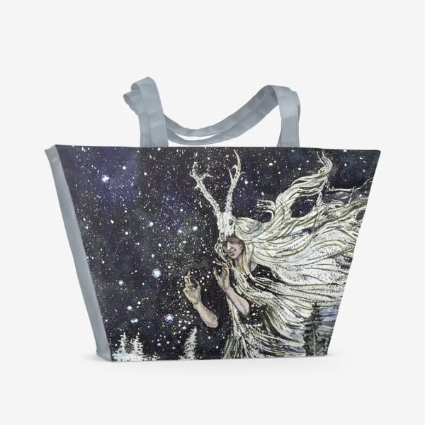 Пляжная сумка «Зимняя ведьма.»