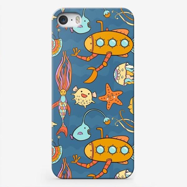 Чехол iPhone «Субмарина и подводный мир»