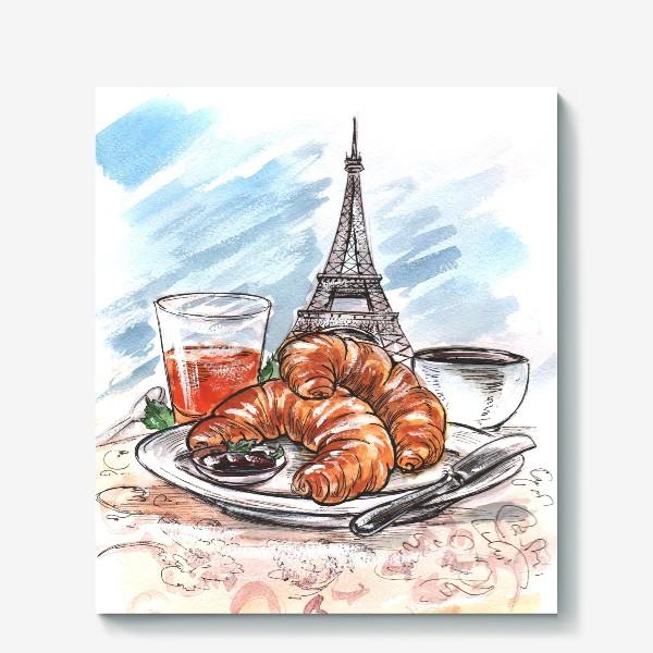 Холст «Завтрак в Париже»