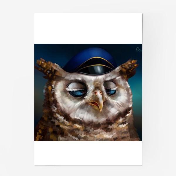 Постер «Уставшая сова»