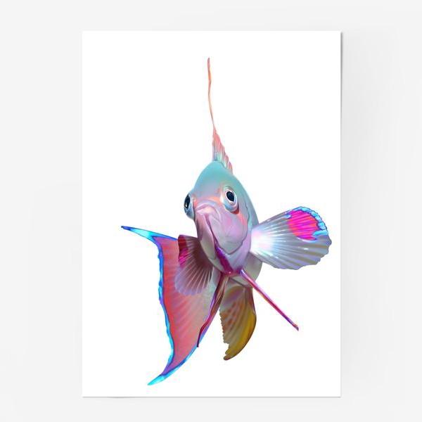 Постер «Серебристая рыбка»