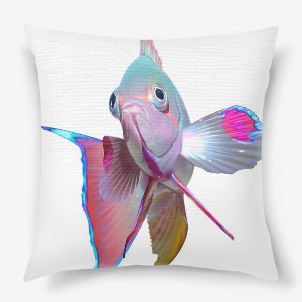 Подушка «Серебристая рыбка»