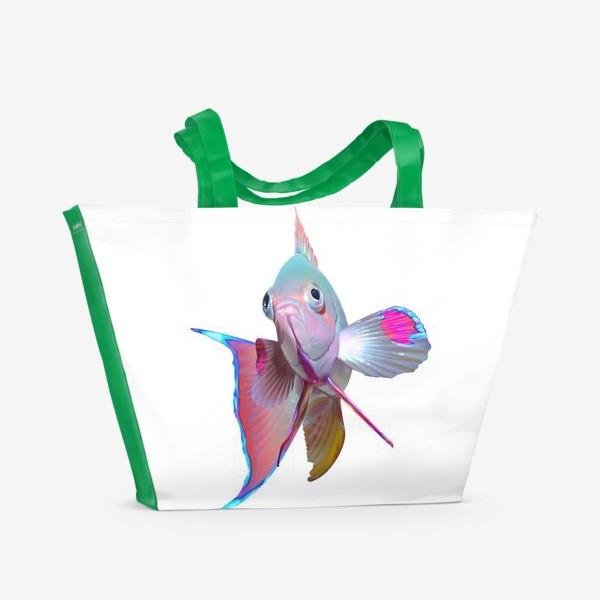 Пляжная сумка «Серебристая рыбка»