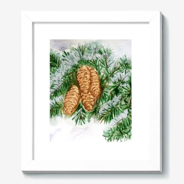 Картина «Еловая ветка. Зима.»