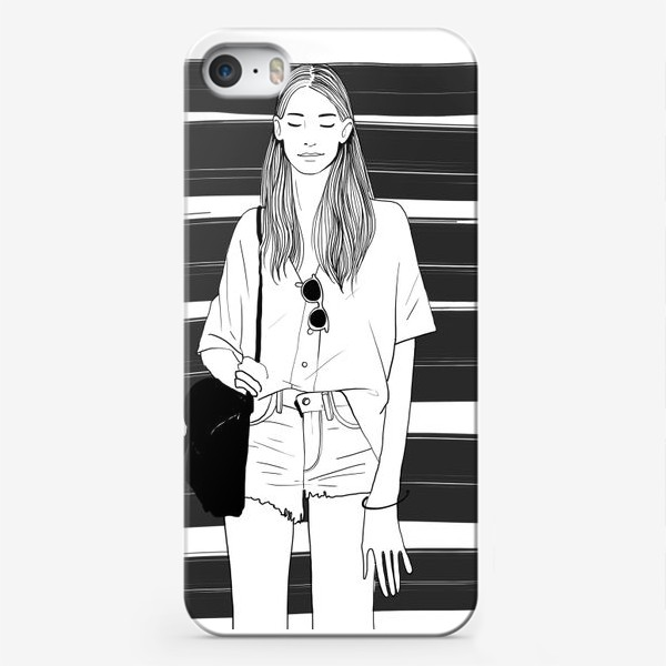 Чехол iPhone «Девчонка »