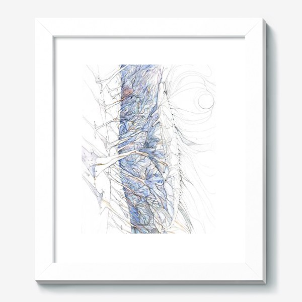 Картина «ящерица в лесу»