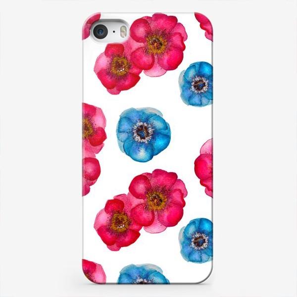 Чехол iPhone «Розовые и голубые анемоны»
