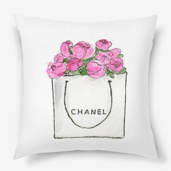 Подушка «Весенний аромат. Chanel. Шанель»