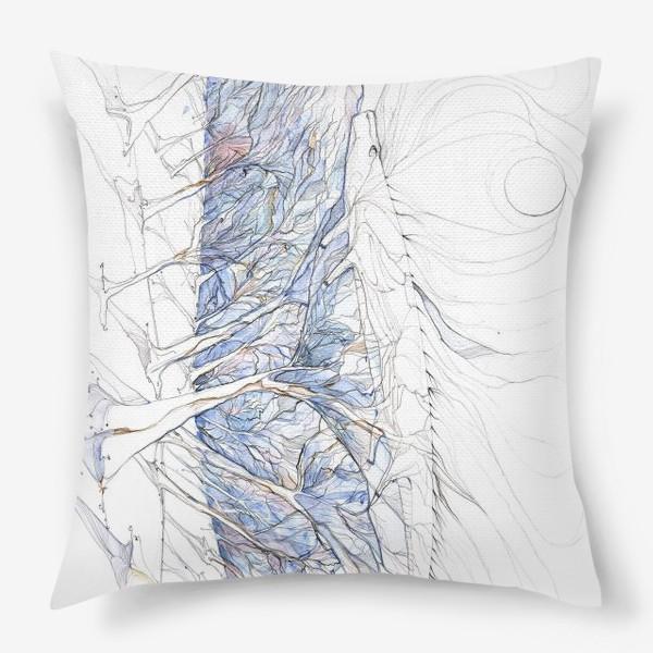 Подушка «ящерица в лесу»