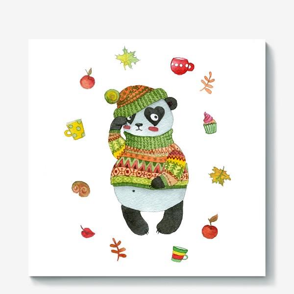 Холст «Панда. Осень»